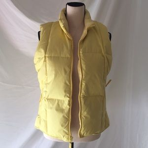 Yellow Old Navy Down Puffy Vest Size Small